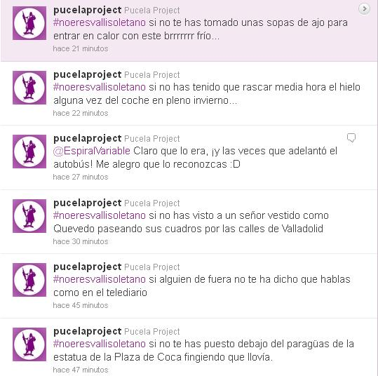 #noeresvallisoletano twitter pucelaproject