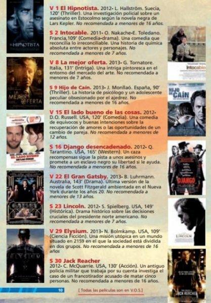 Películas del cine de verano San Benito 2014