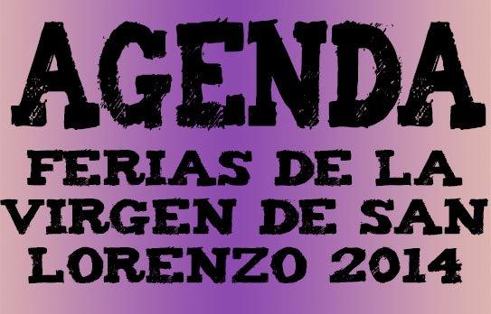 Agenda Ferias Virgen San Lorenzo 2014