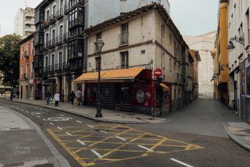Calles semivacías en Valladolid durante la fase de desescalada del coronavirus