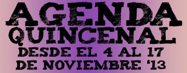 agenda 4 al 17 noviembre 2013 pucelaproject